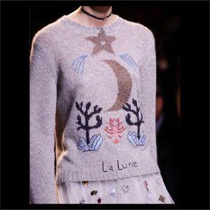 Christian Dior Runway La Lune Cashmere Sweater